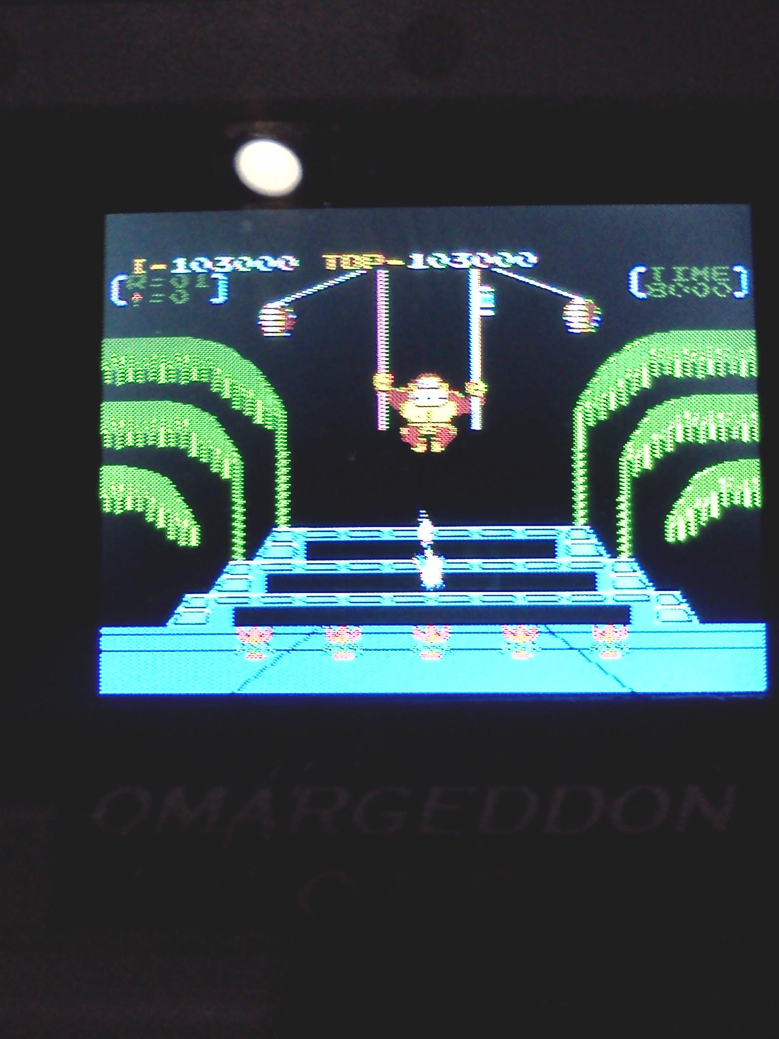 omargeddon: Donkey Kong 3: Game A (NES/Famicom Emulated) 103,000 points on 2016-08-07 18:03:28