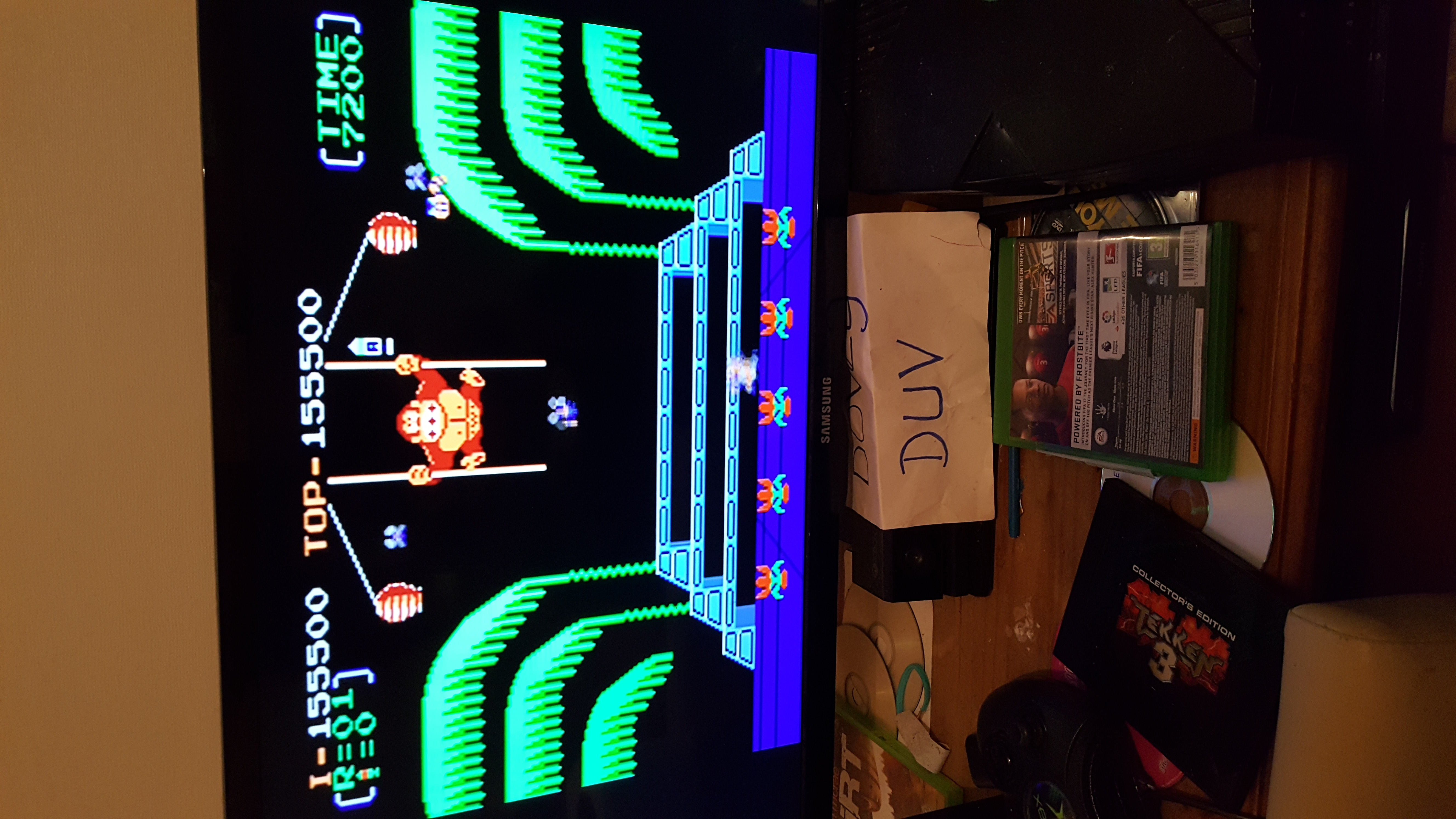 Donkey Kong 3: Game A 155,500 points