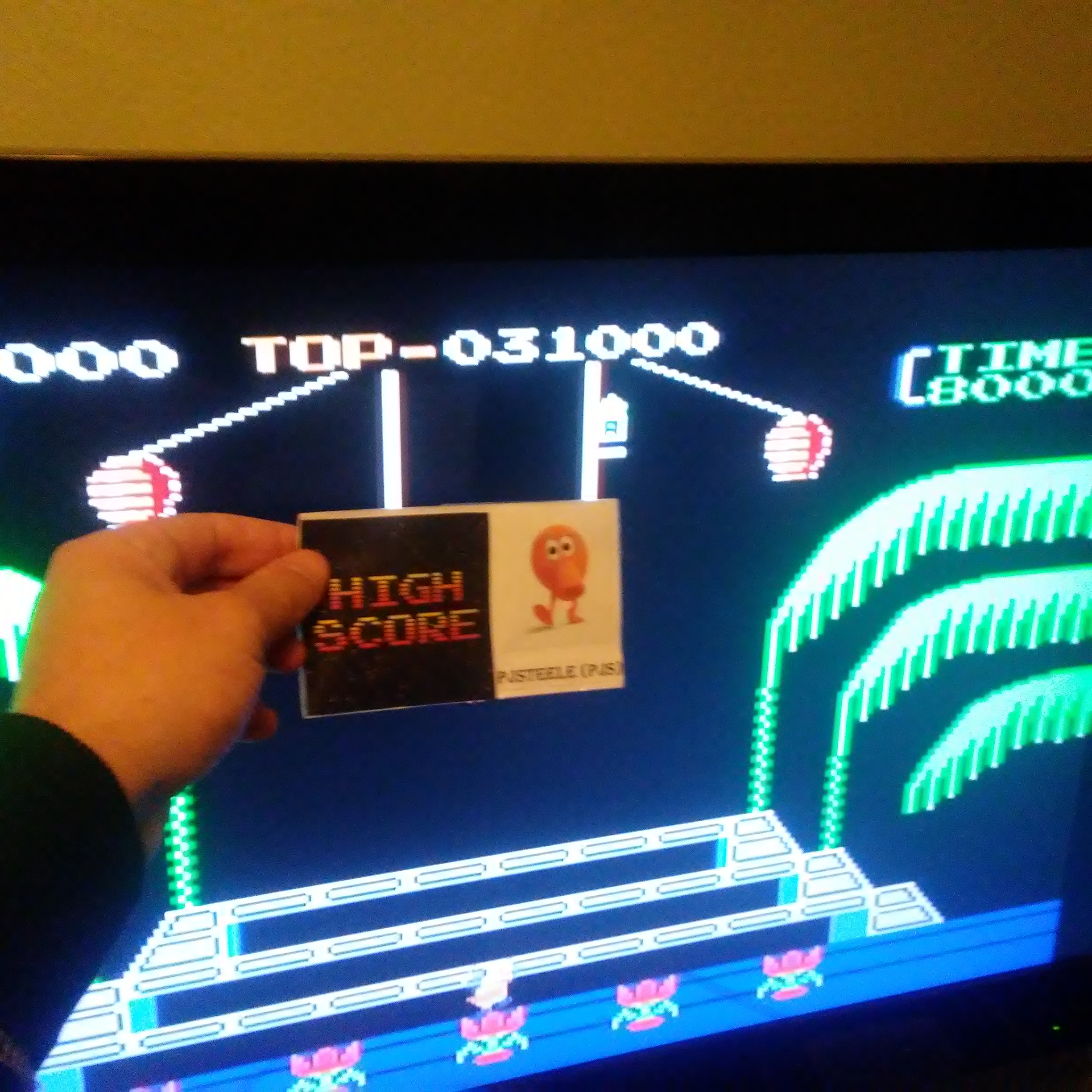 Donkey Kong 3: Game A 31,000 points