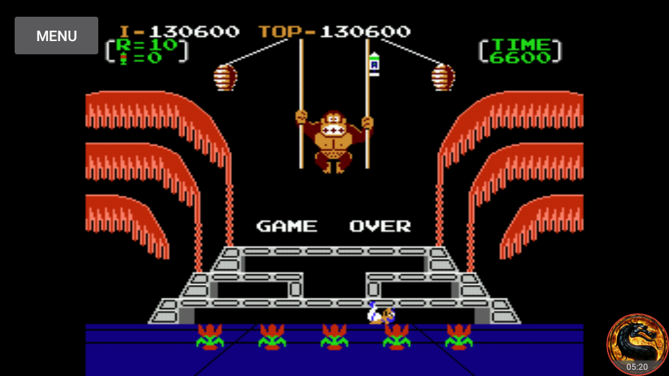 omargeddon: Donkey Kong 3: Game A (NES/Famicom Emulated) 130,600 points on 2018-09-01 18:25:11
