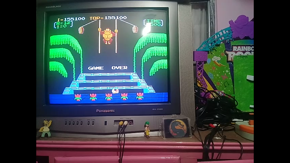 Donkey Kong 3: Game A 155,100 points