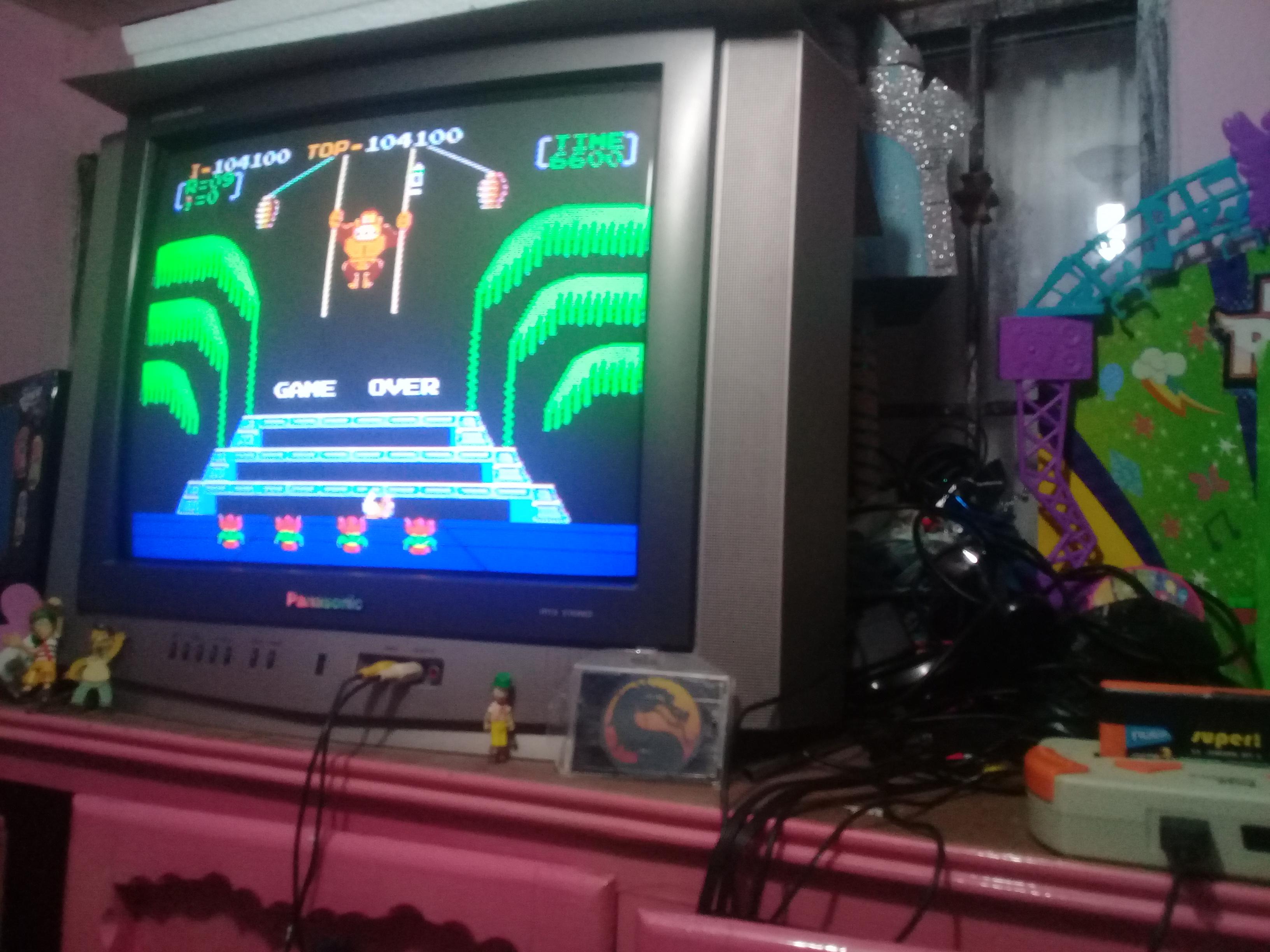 omargeddon: Donkey Kong 3: Game B (NES/Famicom Emulated) 104,100 points on 2019-01-23 18:45:33