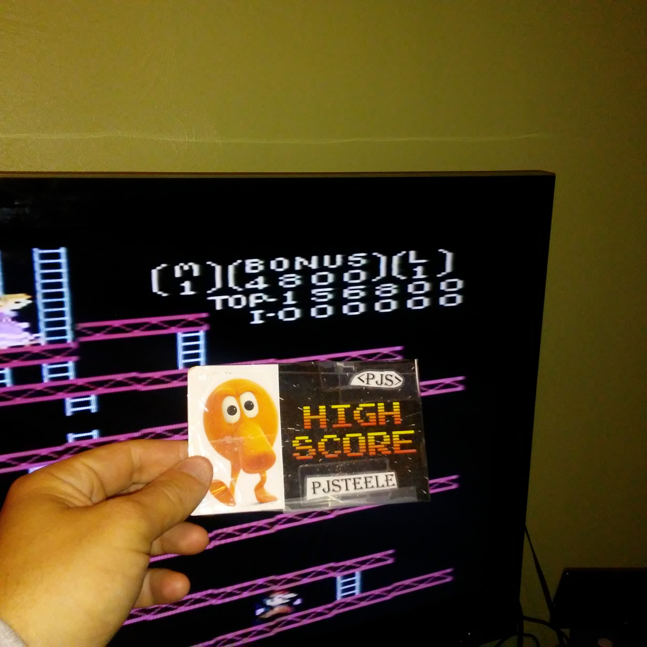 Donkey Kong: Advanced 156,800 points