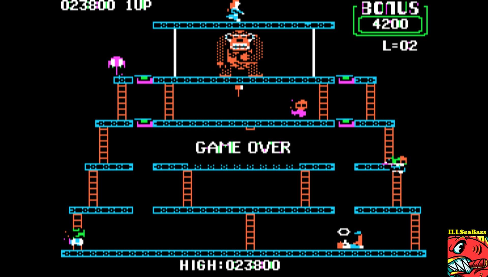 ILLSeaBass: Donkey Kong (Apple II Emulated) 23,800 points on 2017-02-21 00:54:56