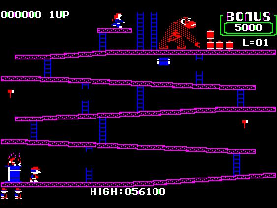Donkey Kong 56,100 points