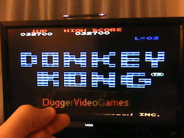 DuggerVideoGames: Donkey Kong (Arcade Emulated / M.A.M.E.) 32,700 points on 2017-06-08 03:14:14