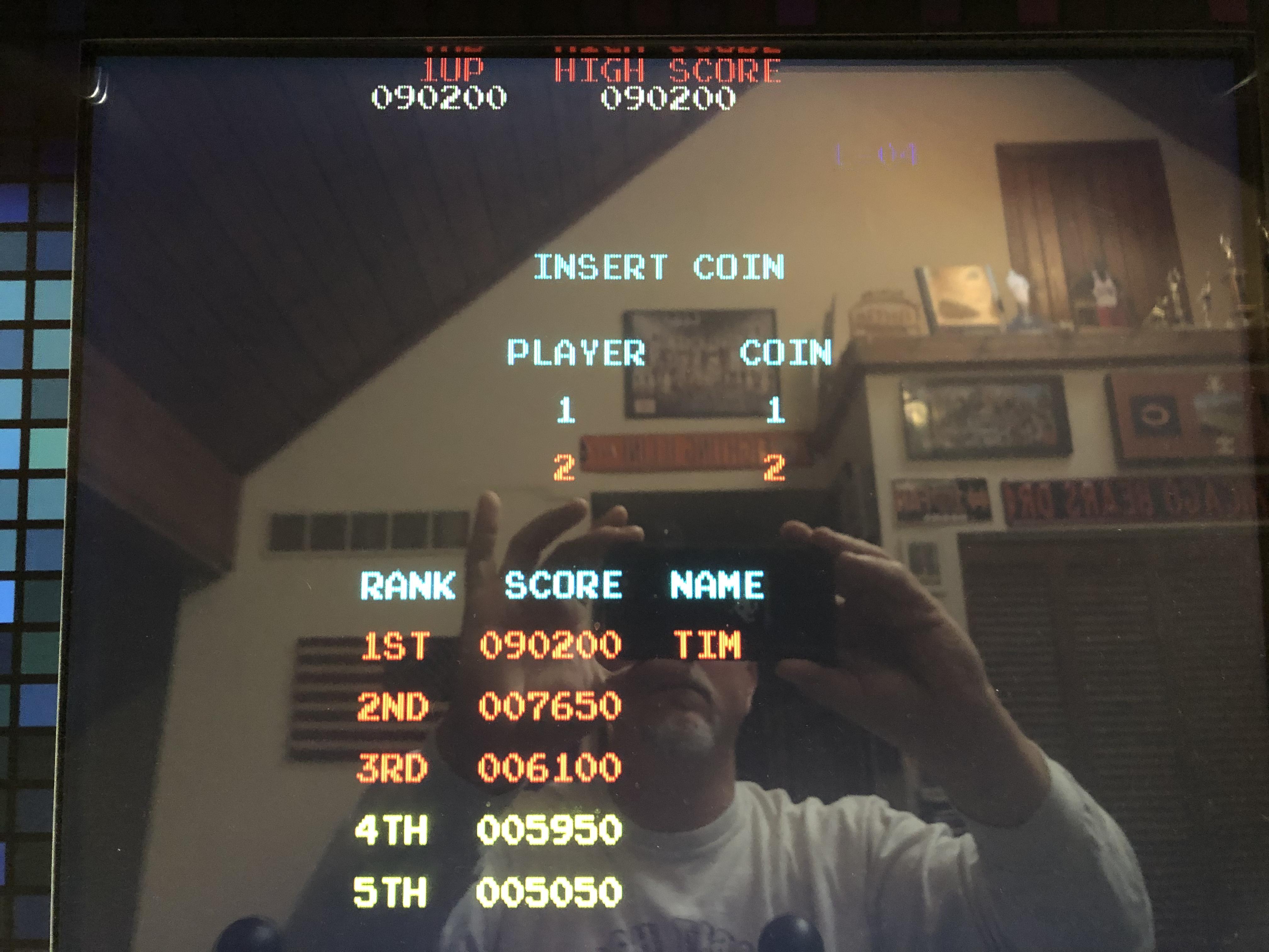 Donkey Kong 90,200 points