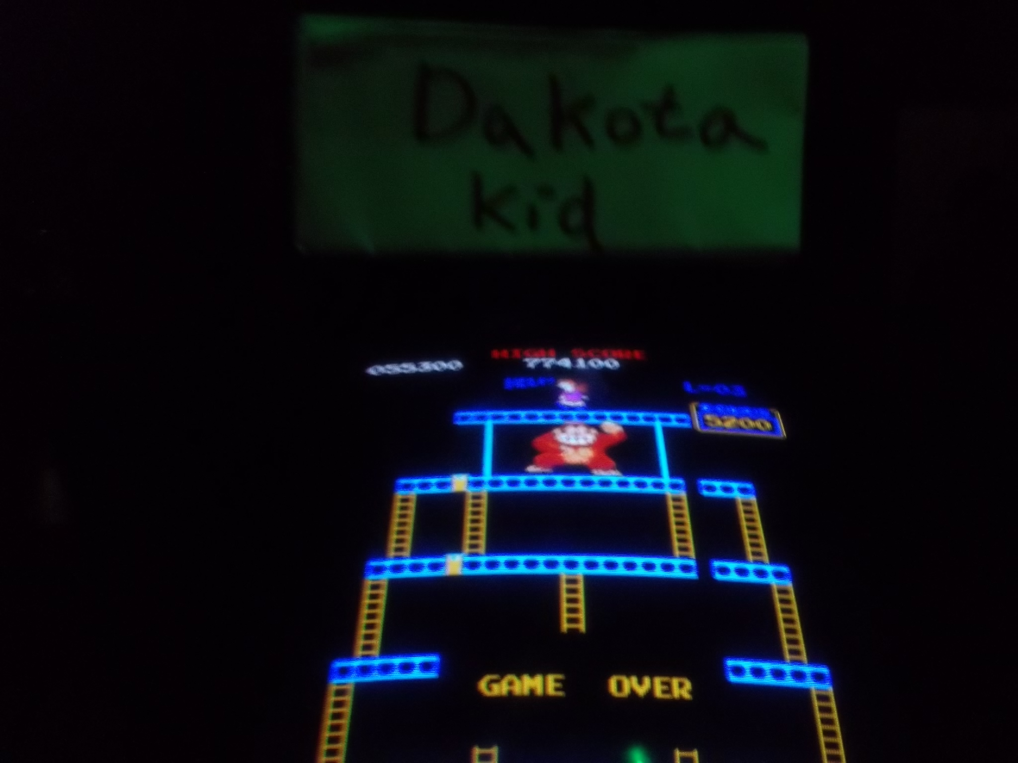 DakotaKid: Donkey Kong (Arcade) 55,300 points on 2017-01-19 14:27:40