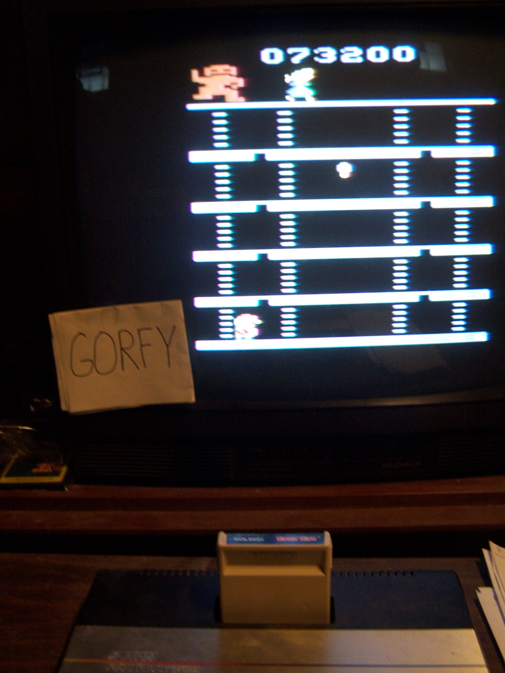 Gorfy: Donkey Kong (Atari 2600 Novice/B) 73,200 points on 2016-01-30 07:41:04