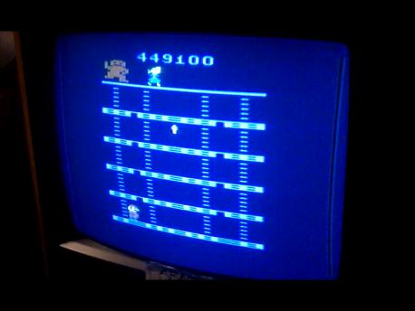 S.BAZ: Donkey Kong (Atari 2600 Novice/B) 449,100 points on 2016-02-11 02:52:49