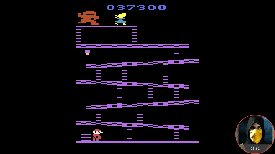 omargeddon: Donkey Kong (Atari 2600 Emulated Expert/A Mode) 37,300 points on 2018-05-27 23:46:11