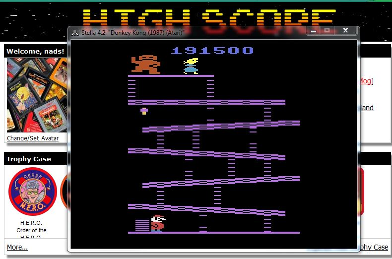 nads: Donkey Kong (Atari 2600 Emulated Novice/B Mode) 191,500 points on 2016-02-06 17:31:46