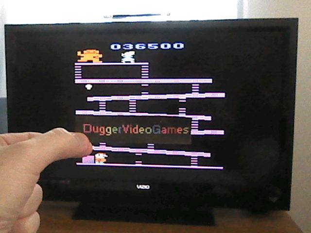 DuggerVideoGames: Donkey Kong (Atari 2600 Emulated Novice/B Mode) 36,500 points on 2017-07-03 12:08:34