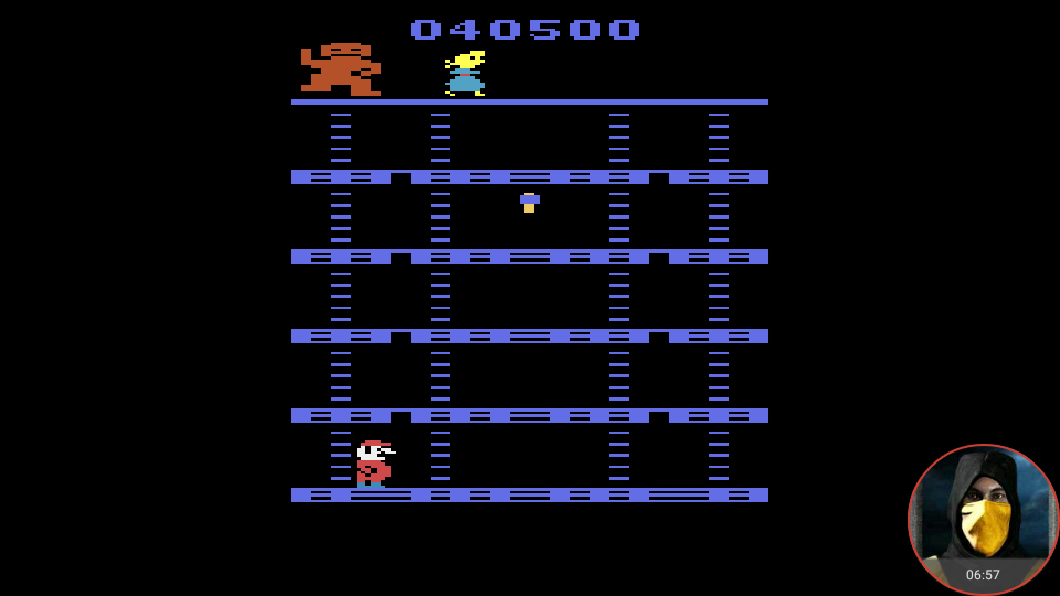 omargeddon: Donkey Kong (Atari 2600 Emulated Novice/B Mode) 40,500 points on 2018-05-25 23:48:25