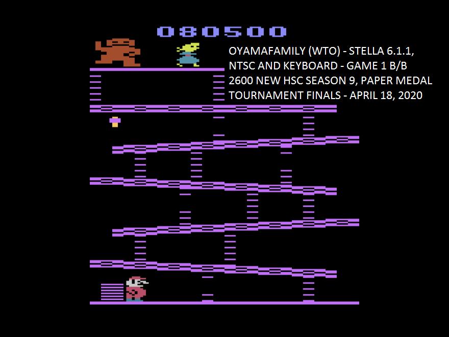 oyamafamily: Donkey Kong (Atari 2600 Emulated Novice/B Mode) 80,500 points on 2020-04-19 20:22:48