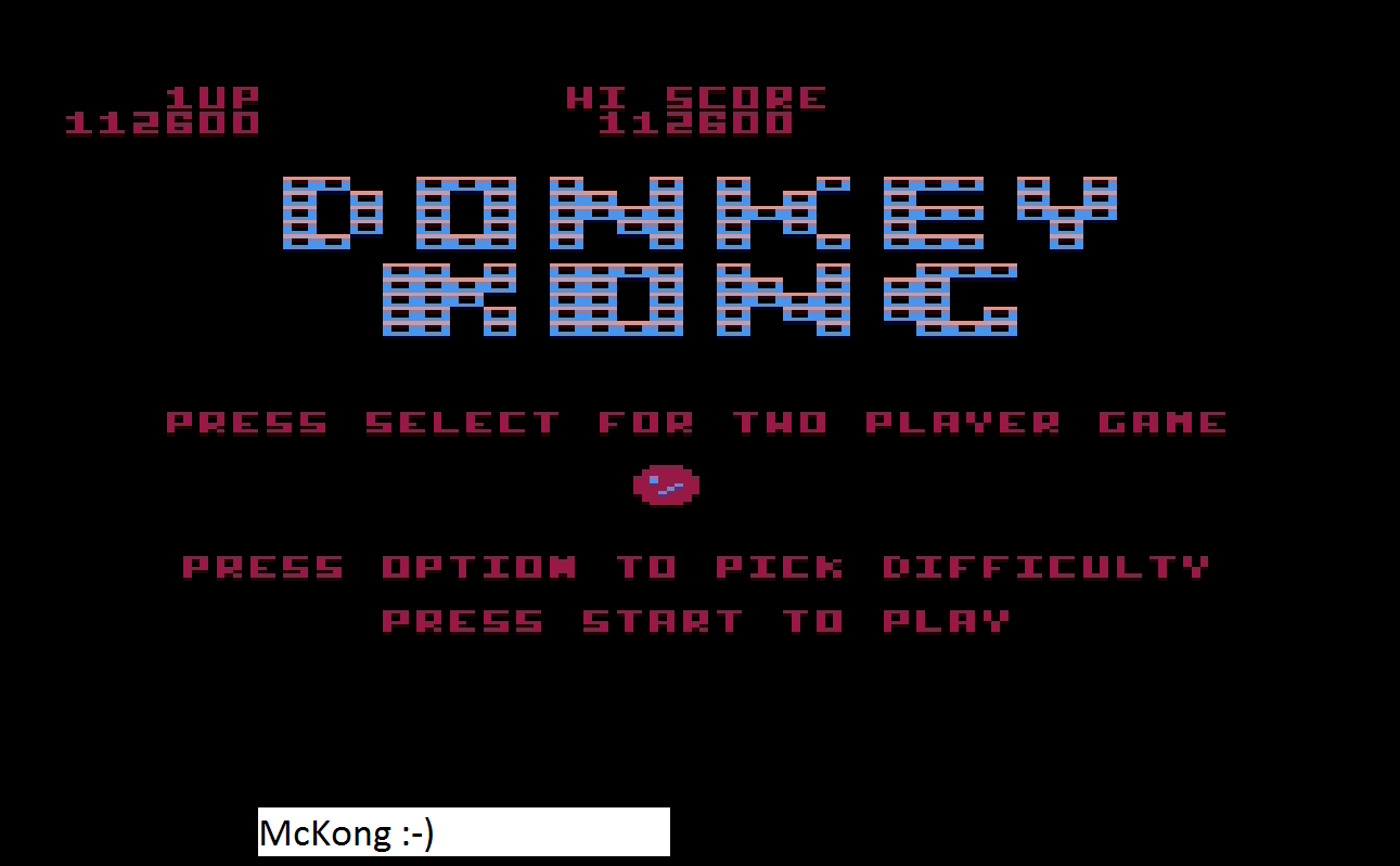 Donkey Kong 112,600 points