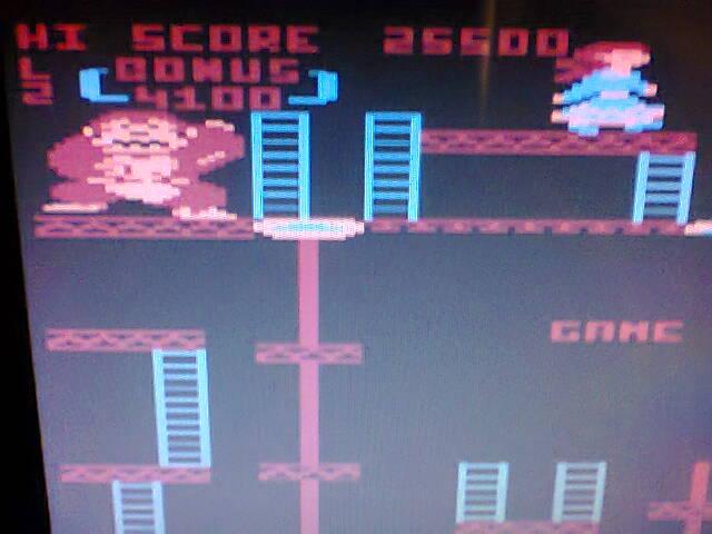 ecworiginal: Donkey Kong (Atari 400/800/XL/XE Emulated) 25,500 points on 2016-05-08 14:33:42