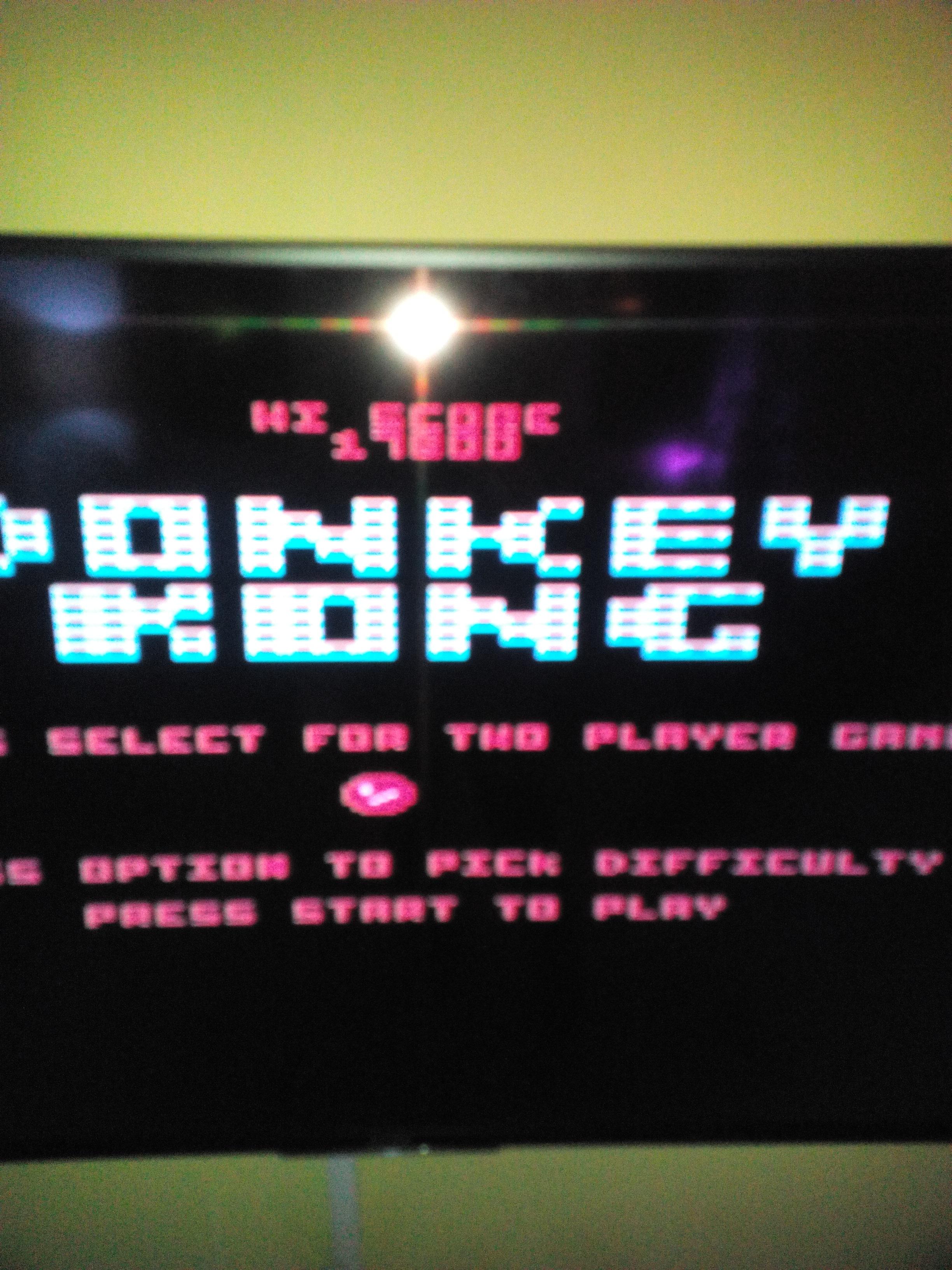 MisterVCS: Donkey Kong (Atari 400/800/XL/XE) 17,800 points on 2017-05-13 07:46:26