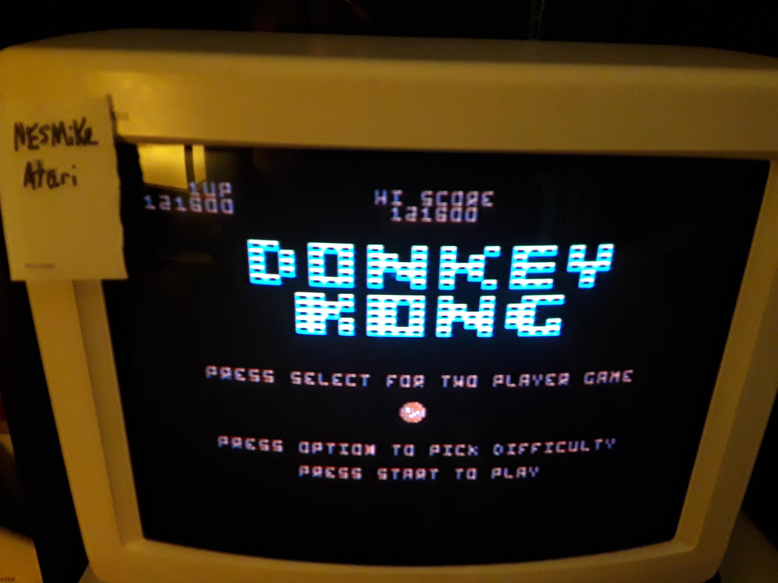 Donkey Kong 121,600 points