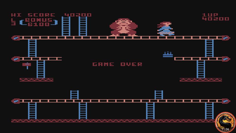 omargeddon: Donkey Kong (Atari 400/800/XL/XE Emulated) 40,200 points on 2019-02-20 17:07:08
