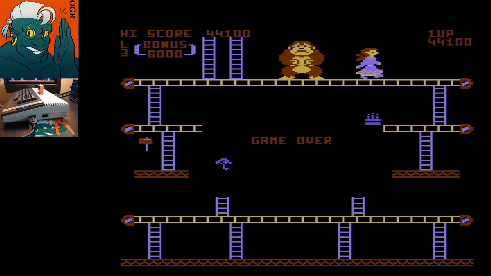 Donkey Kong 44,100 points