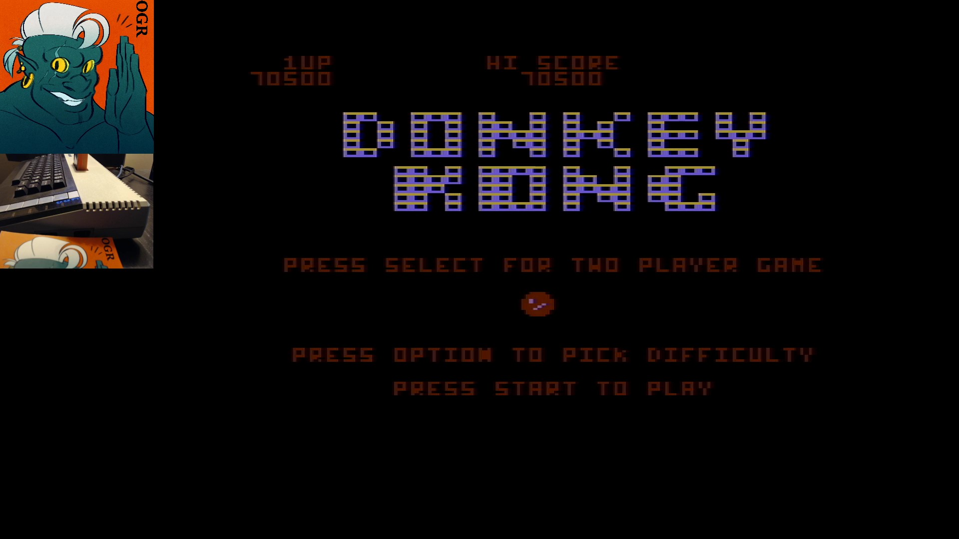 AwesomeOgre: Donkey Kong (Atari 400/800/XL/XE) 70,500 points on 2020-03-01 06:18:28