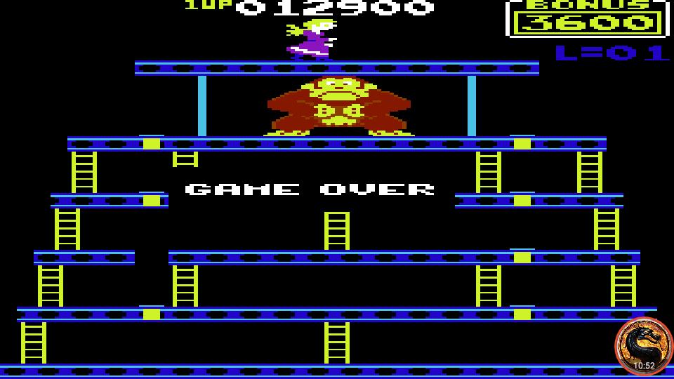 omargeddon: Donkey Kong: Atarisoft (Commodore 64 Emulated) 12,900 points on 2019-09-07 00:16:32