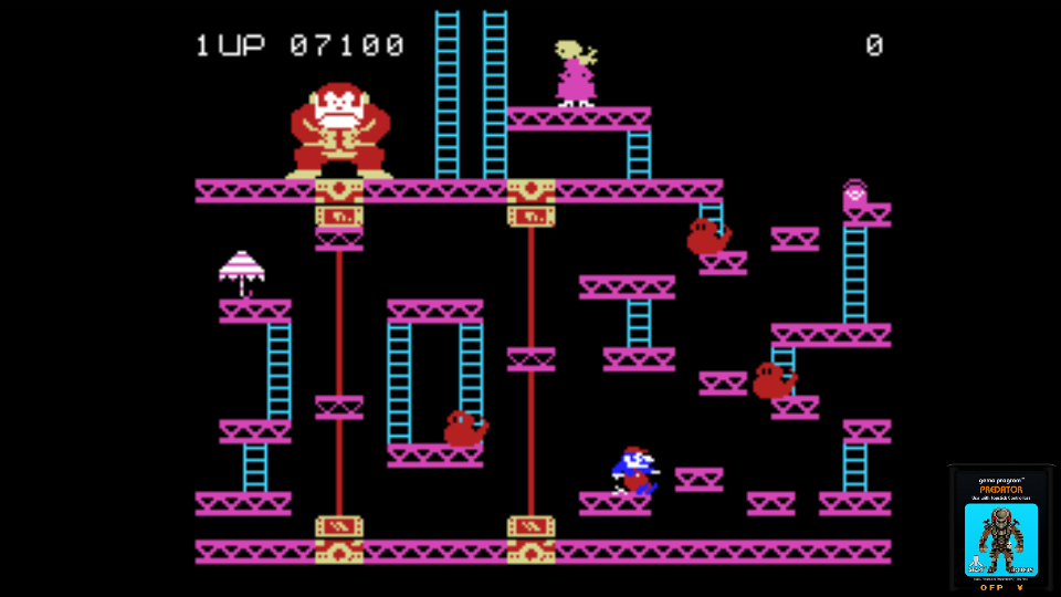 omargeddon: Donkey Kong (Colecovision Emulated) 7,100 points on 2017-06-26 00:38:54