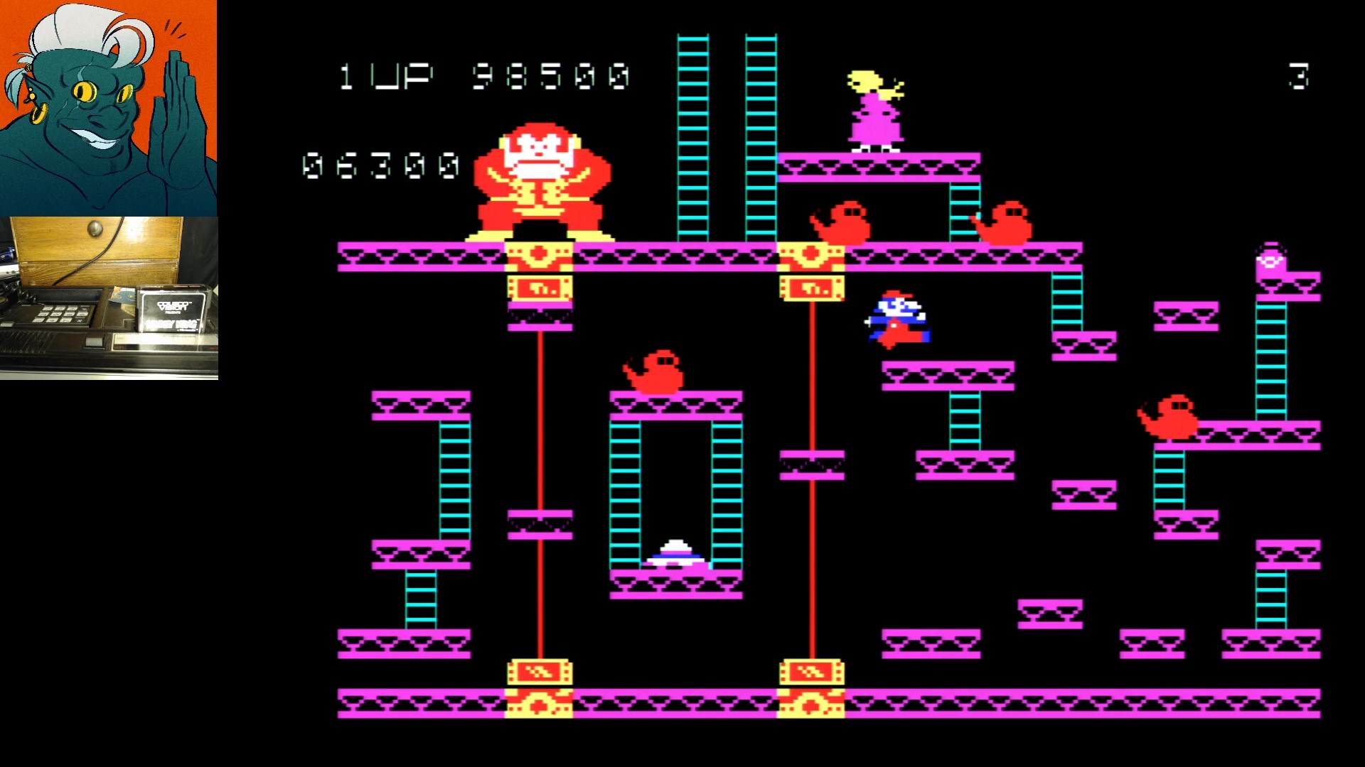 AwesomeOgre: Donkey Kong (Colecovision) 119,600 points on 2019-11-06 07:47:14