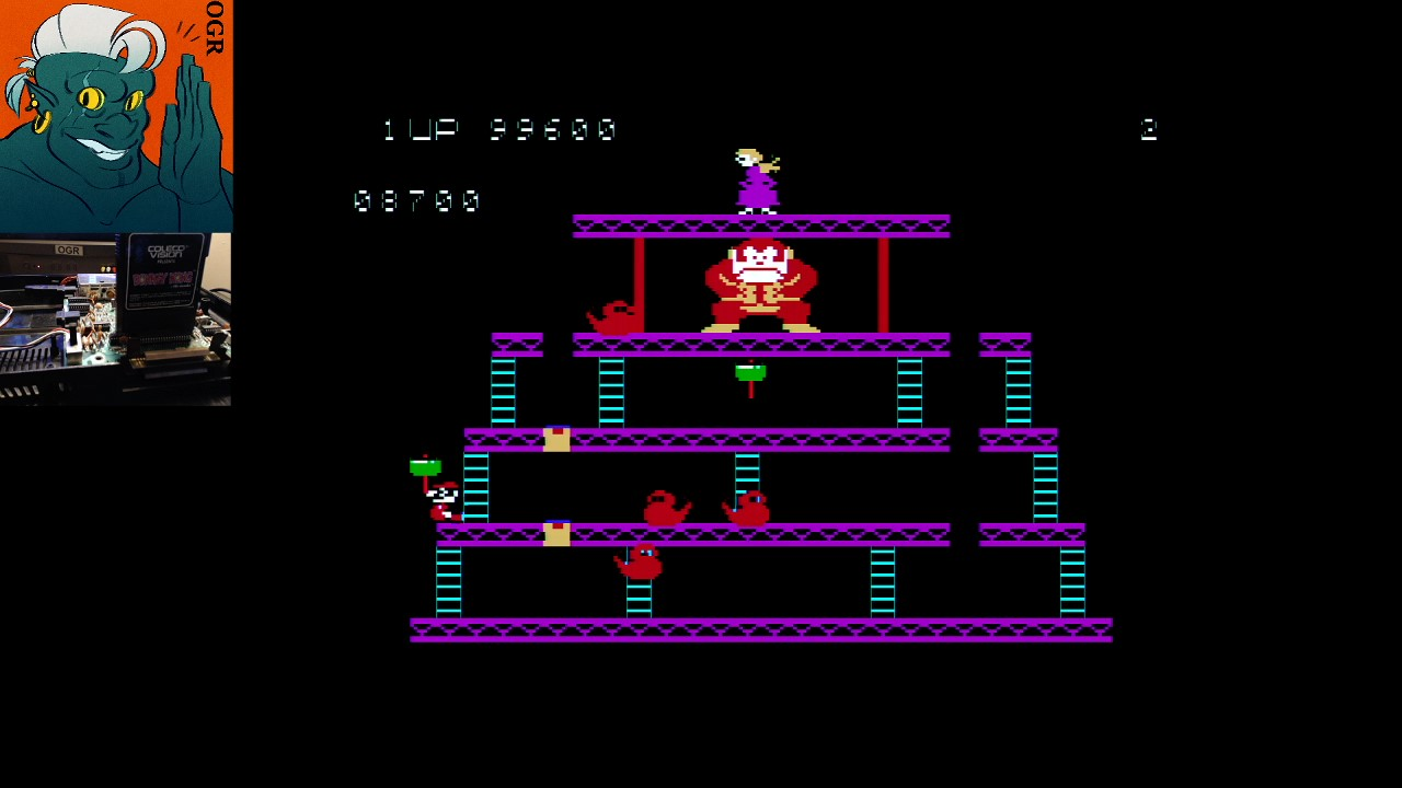 AwesomeOgre: Donkey Kong (Colecovision) 208,900 points on 2020-02-24 06:21:34