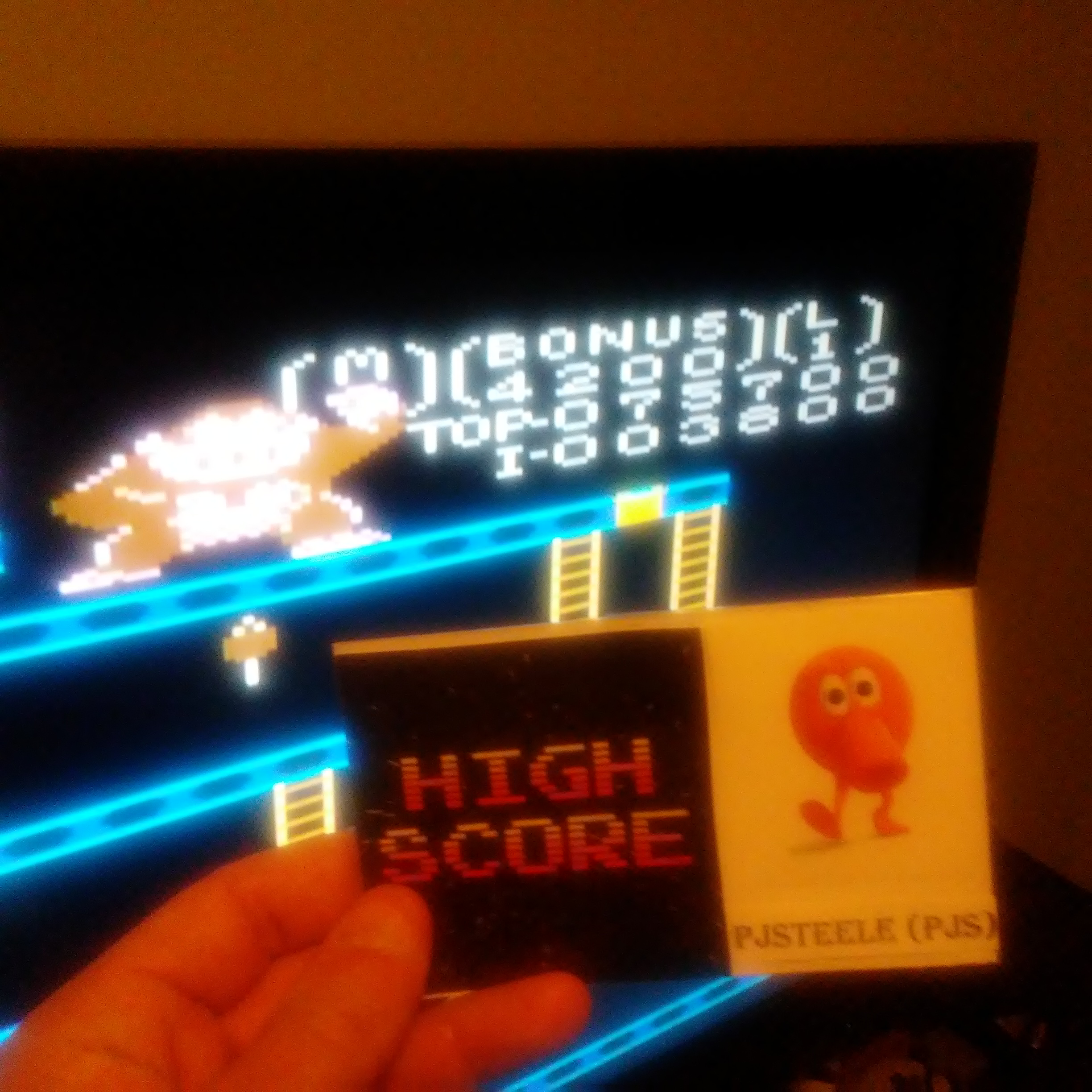 Pjsteele: Donkey Kong: Expert (Atari 7800 Emulated) 75,700 points on 2017-04-22 09:15:22