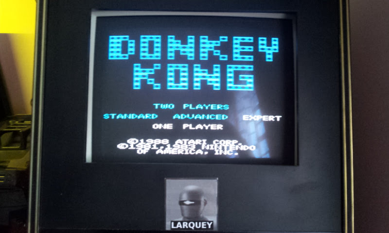 Larquey: Donkey Kong: Expert (Atari 7800 Emulated) 12,100 points on 2017-12-10 04:55:50