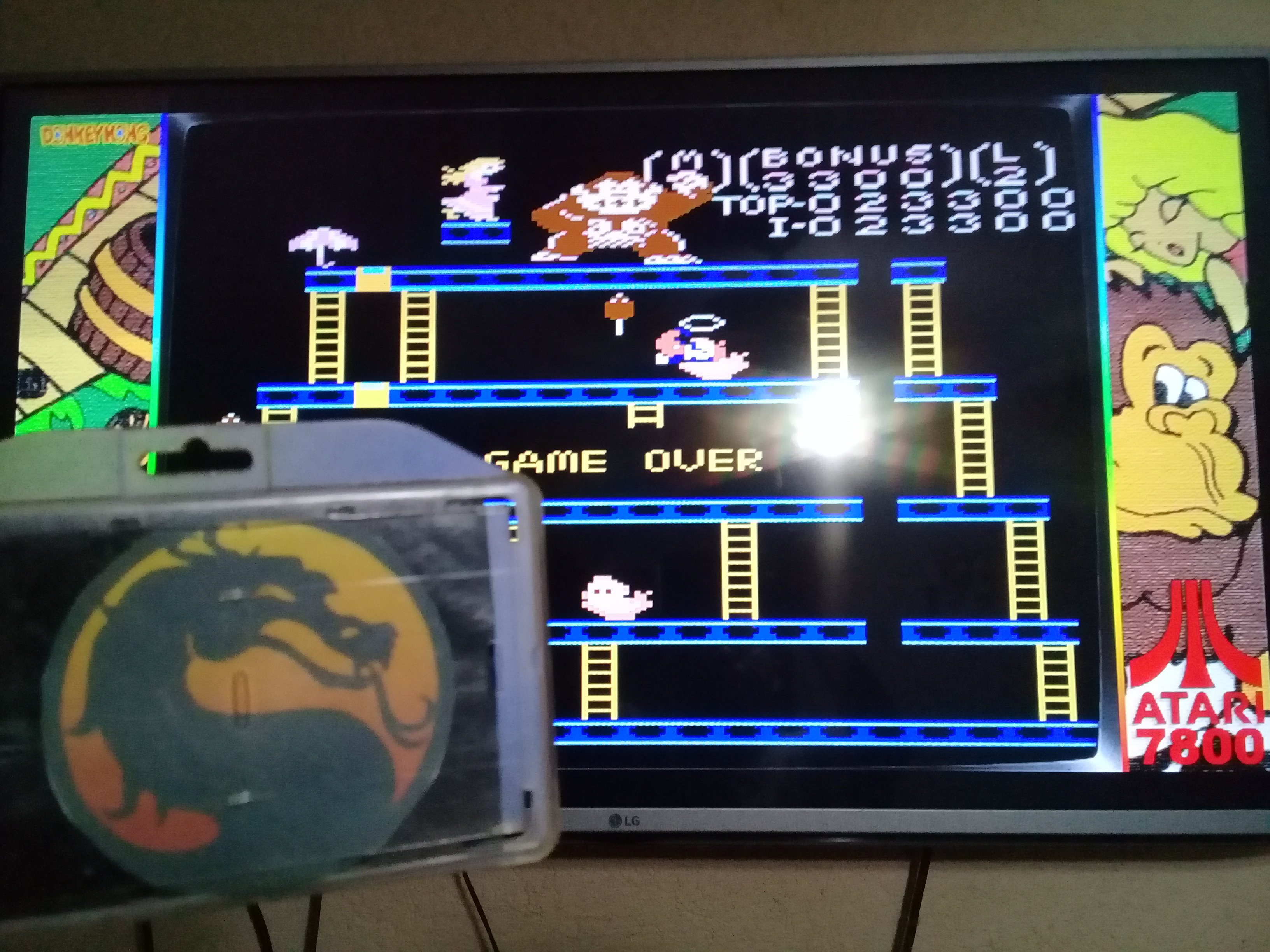 omargeddon: Donkey Kong: Expert (Atari 7800 Emulated) 23,300 points on 2020-06-20 20:07:32