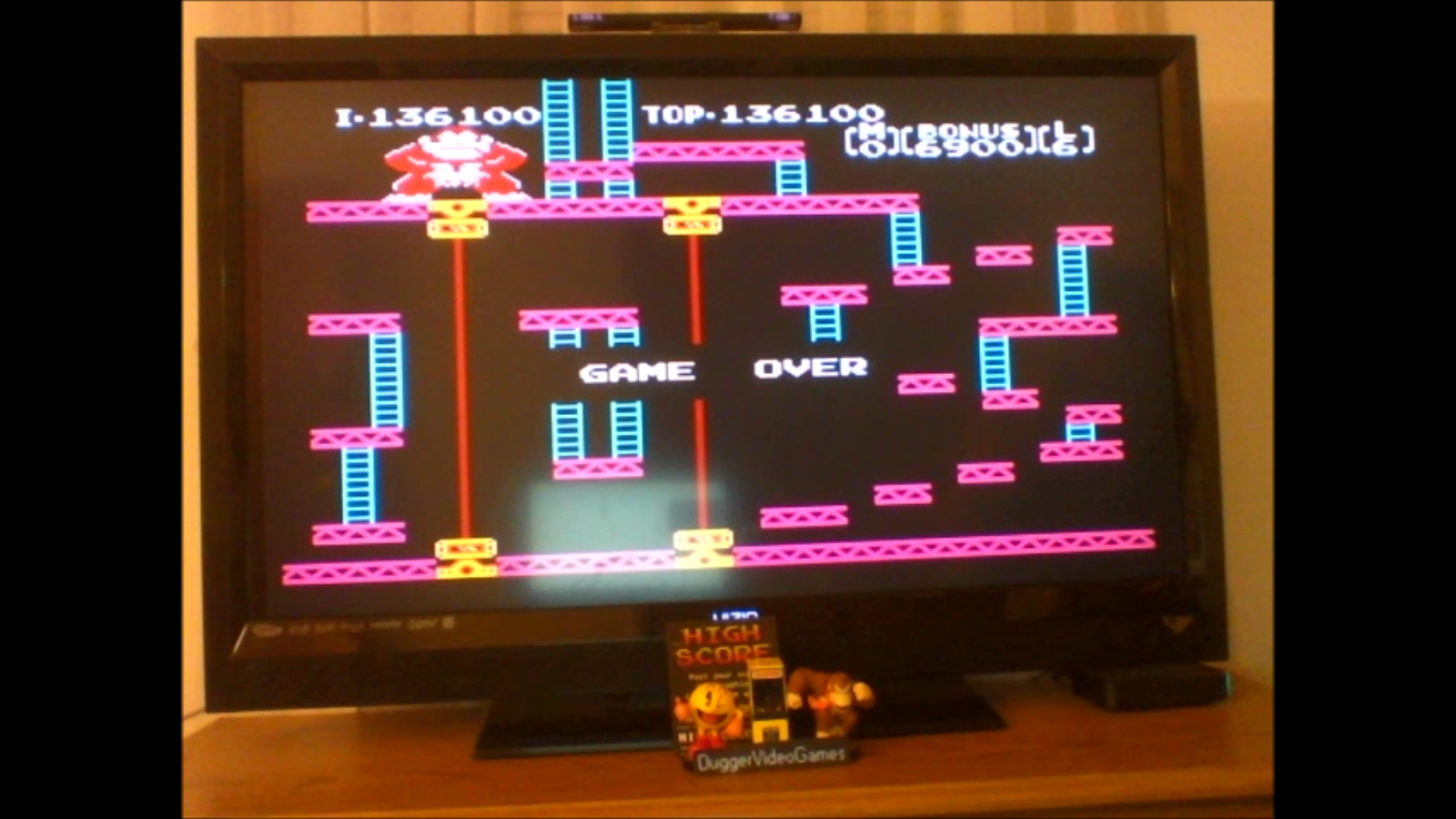 DuggerVideoGames: Donkey Kong: Game B (NES/Famicom Emulated) 136,100 points on 2017-02-17 20:32:33
