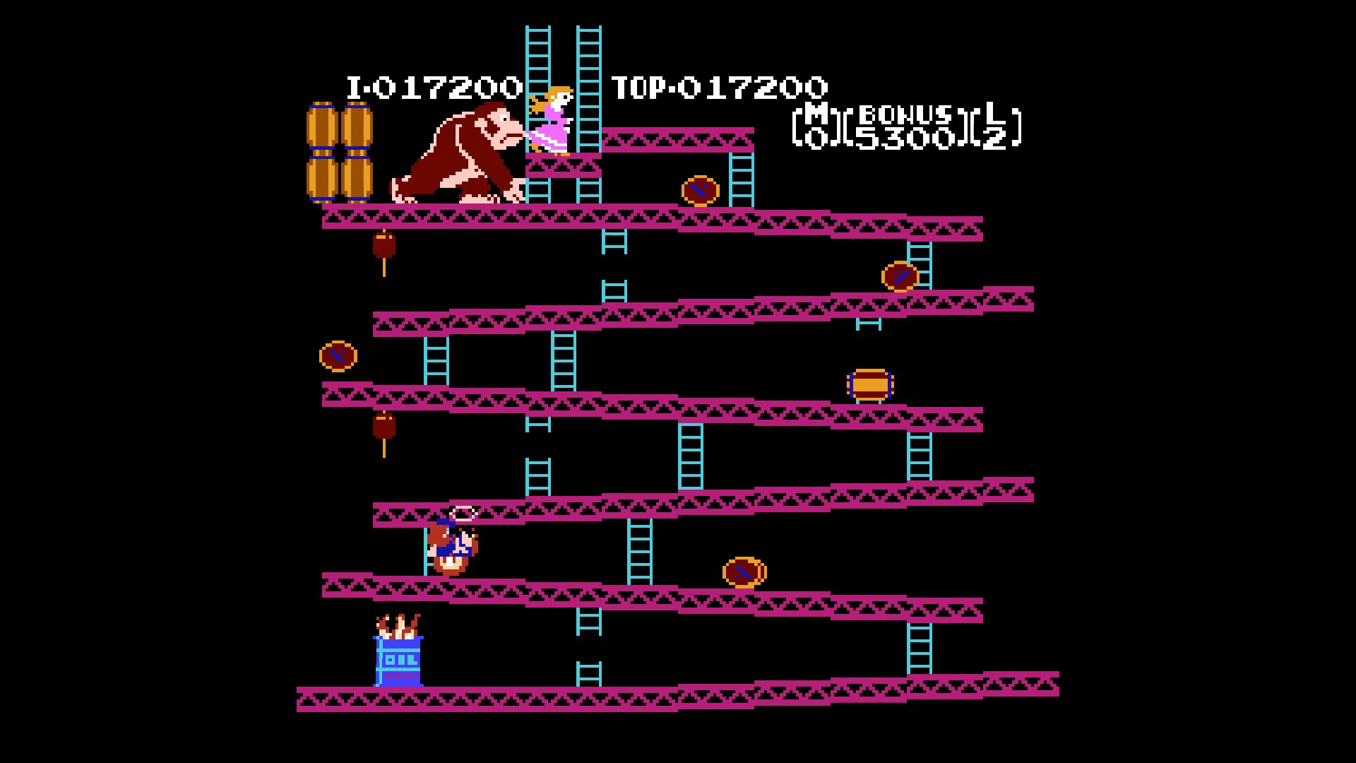 Donkey Kong: Game B 17,200 points