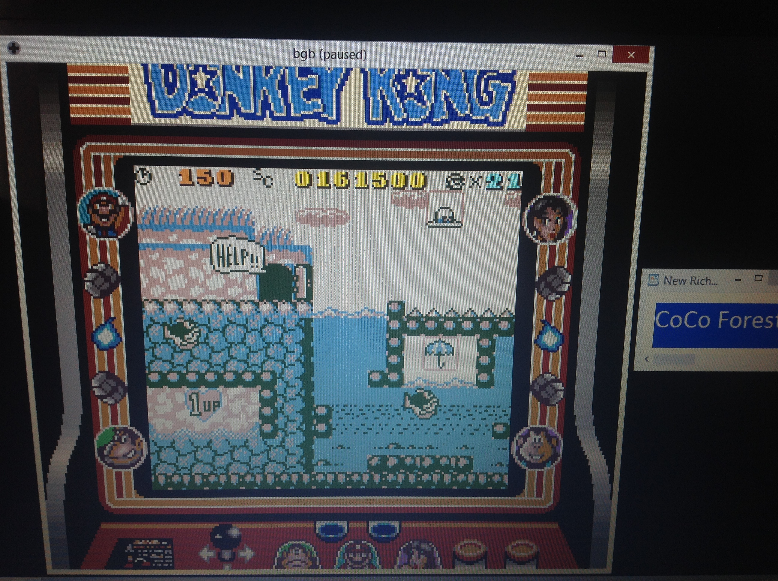 CoCoForest: Donkey Kong (Game Boy Emulated) 161,500 points on 2018-10-04 06:03:18