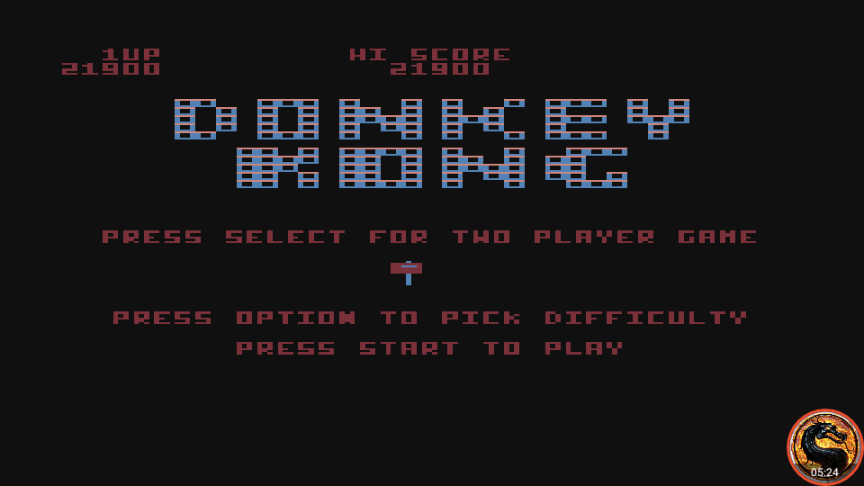 omargeddon: Donkey Kong [Hammer Start] (Atari 400/800/XL/XE Emulated) 21,900 points on 2019-12-03 07:44:05