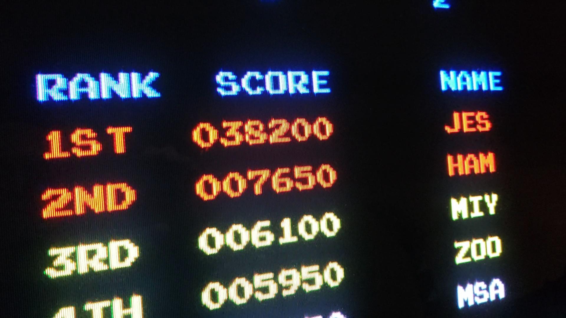 JES: Donkey Kong Jr (Arcade Emulated / M.A.M.E.) 38,200 points on 2020-07-18 01:14:15