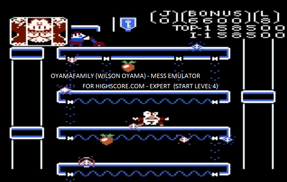 oyamafamily: Donkey Kong Jr: Expert (Atari 7800 Emulated) 158,500 points on 2016-01-30 12:50:02