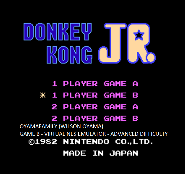 oyamafamily: Donkey Kong Jr: Game B (NES/Famicom Emulated) 100,900 points on 2015-10-03 11:25:00