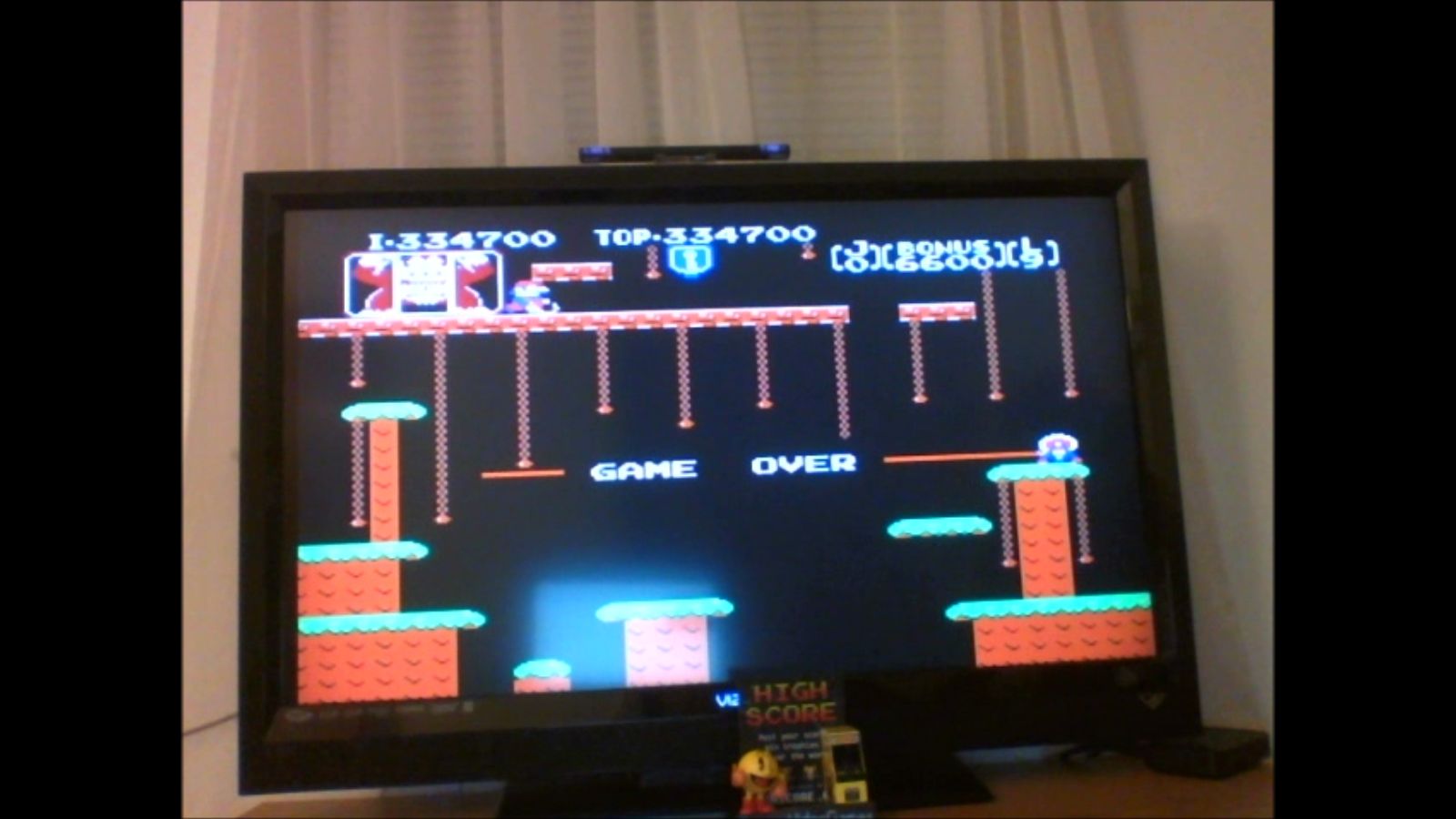 DuggerVideoGames: Donkey Kong Jr: Game B (NES/Famicom Emulated) 334,700 points on 2016-11-12 21:01:57