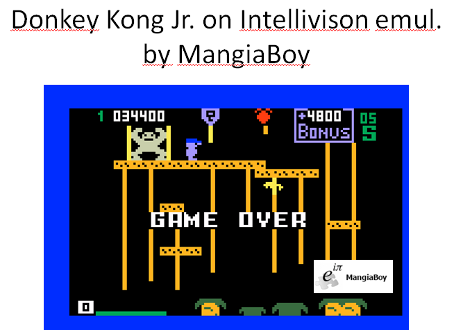 MangiaBoy: Donkey Kong Jr. [Level 1] (Intellivision Emulated) 34,400 points on 2016-01-03 10:12:49