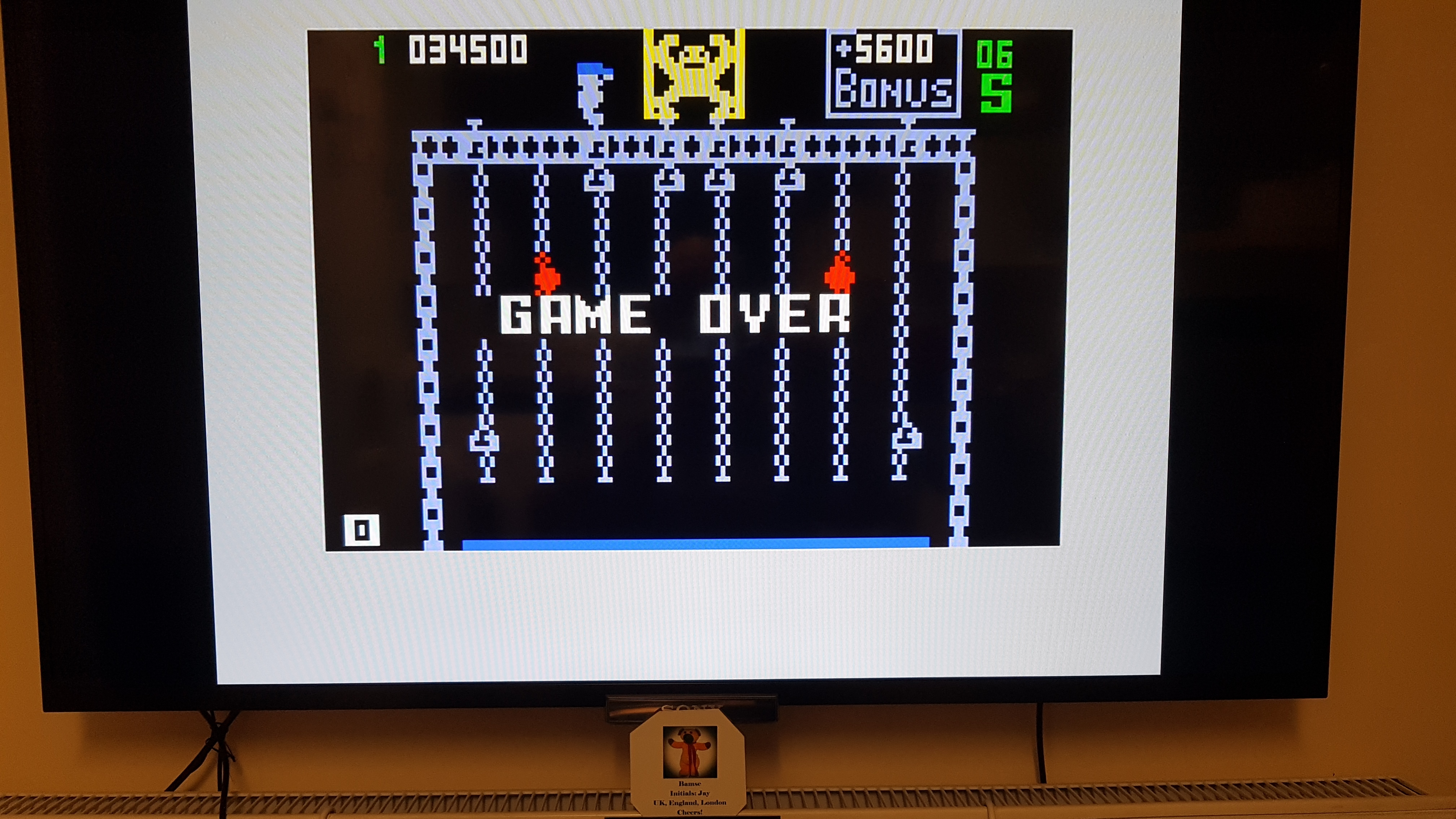 Bamse: Donkey Kong Jr. [Level 1] (Intellivision) 34,500 points on 2019-04-28 15:10:21