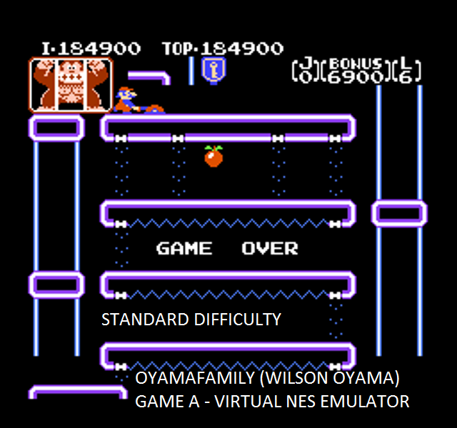 oyamafamily: Donkey Kong Jr (NES/Famicom Emulated) 184,900 points on 2015-10-02 20:55:35