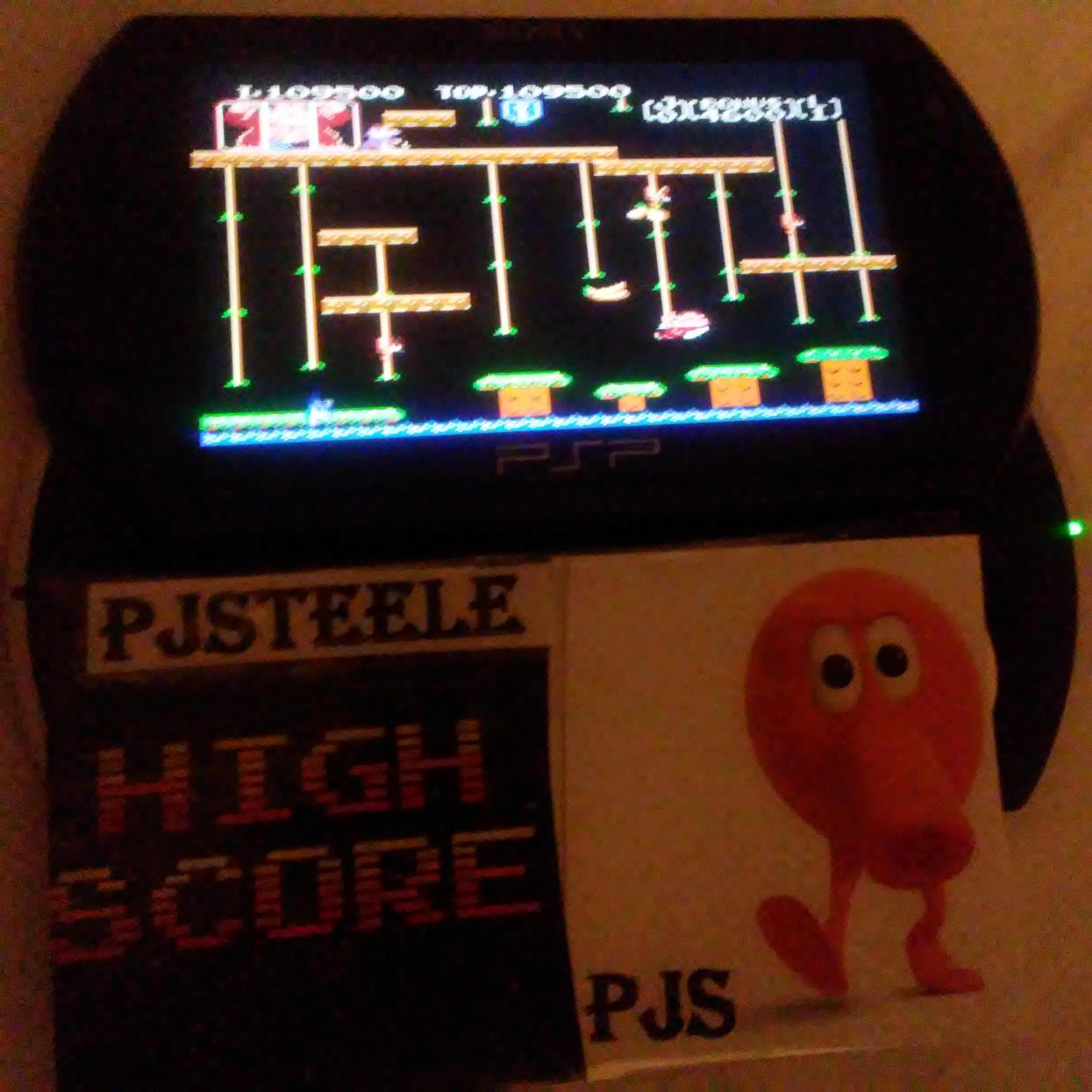 Pjsteele: Donkey Kong Jr (NES/Famicom Emulated) 109,500 points on 2018-02-01 21:49:48
