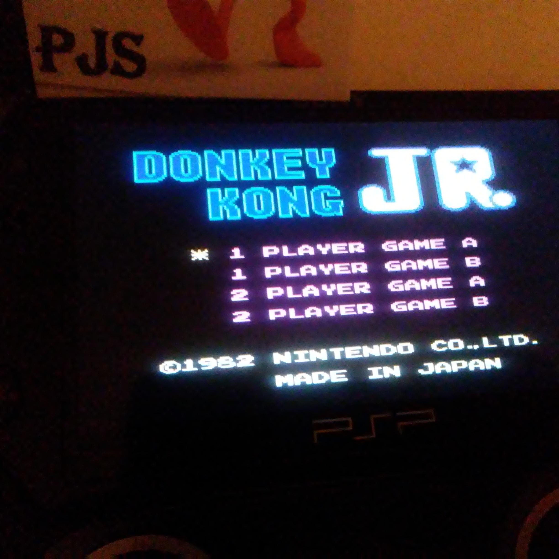Pjsteele: Donkey Kong Jr (NES/Famicom Emulated) 109,500 points on 2018-02-01 21:49:48