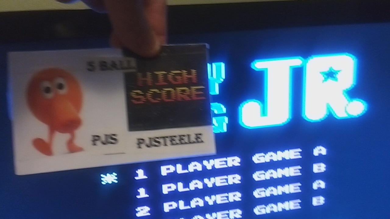 Pjsteele: Donkey Kong Jr (NES/Famicom Emulated) 188,900 points on 2019-12-13 23:45:41