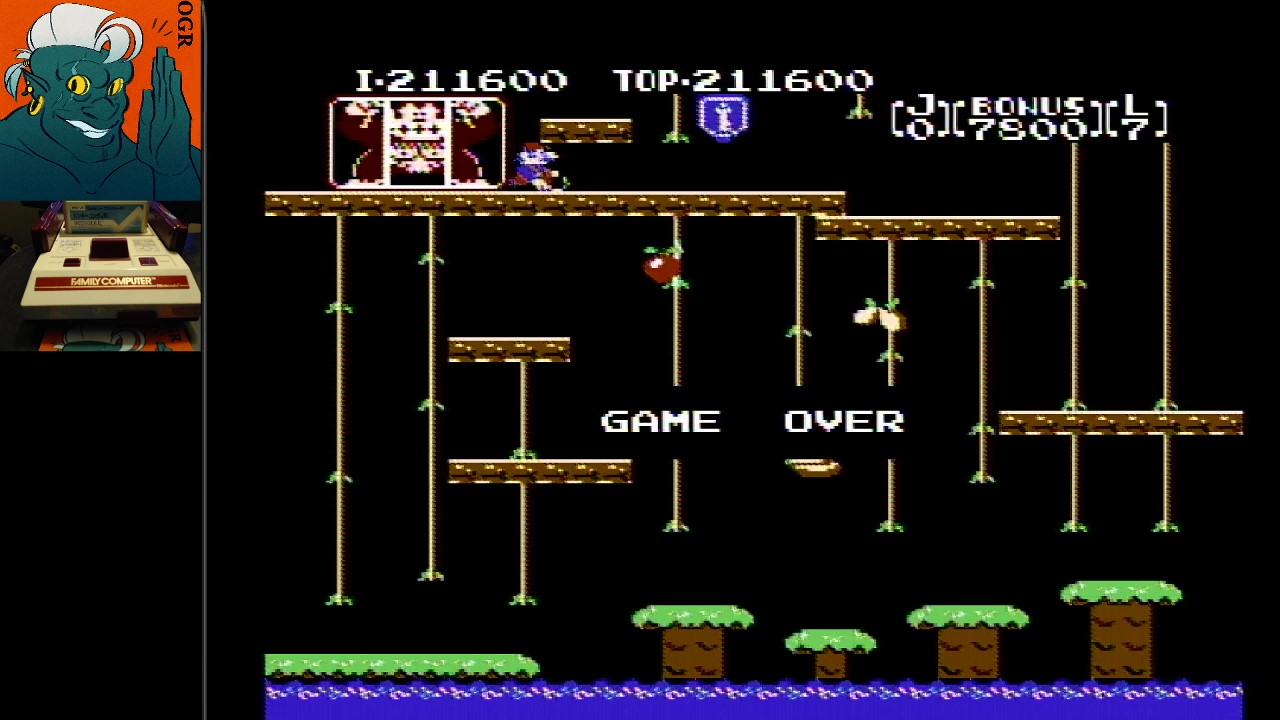 AwesomeOgre: Donkey Kong Jr (NES/Famicom) 211,600 points on 2020-03-14 11:20:06
