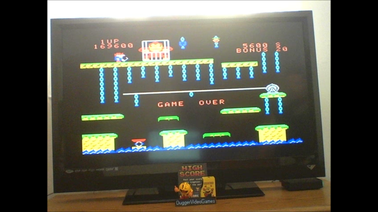 DuggerVideoGames: Donkey Kong Jr [Skill 2] (Colecovision Emulated) 169,600 points on 2017-01-29 15:10:36