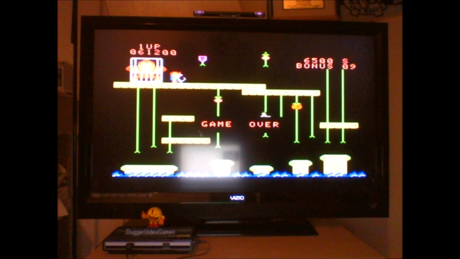 DuggerVideoGames: Donkey Kong Jr [Skill 3] (Colecovision Emulated) 61,200 points on 2016-09-15 01:02:41